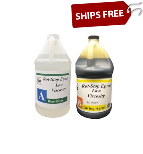 Rot Stop Epoxy, 2 Gallon Kit