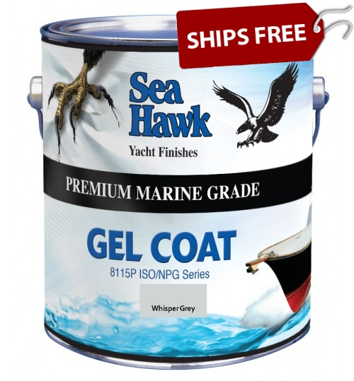 Whisper Gray Gel Coat, by Sea Hawk Paints