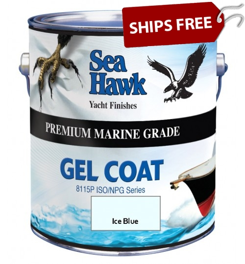 Ice Blue Gel Coat, by Sea Hawk Paints