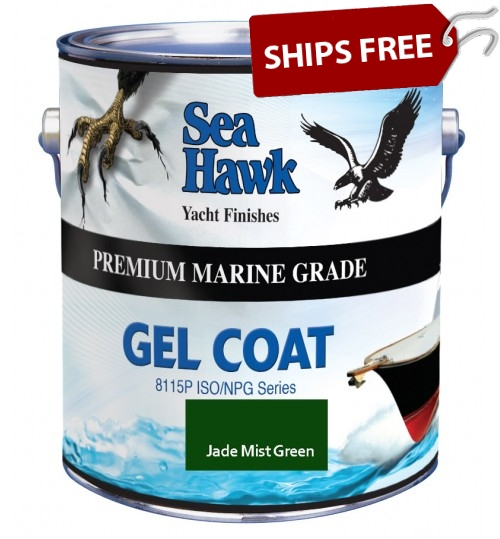 Jade Mist Green Gel Coat, Sea Hawk Paints