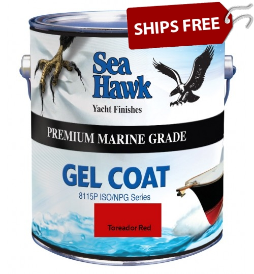 Toreador Red Gel Coat, Sea Hawk Paints