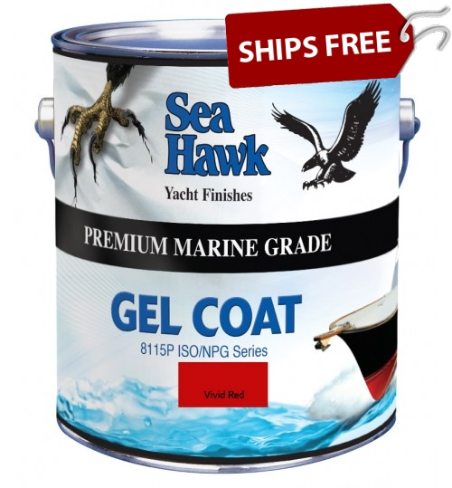 Vivid Red Gel Coat, Sea Hawk Paints