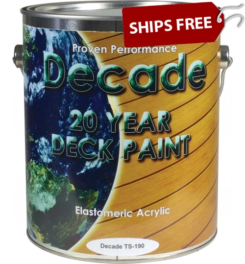 TS-190 Decade Deck Paint, Gallon by Top Secret Coatings