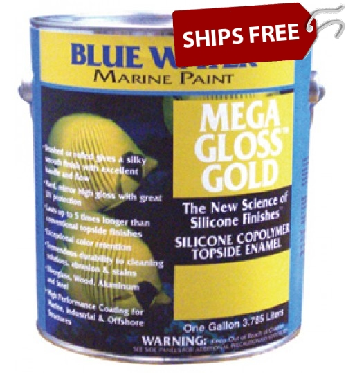 Blue Water Marine Mega Gloss Gold Silicone Copolymer
