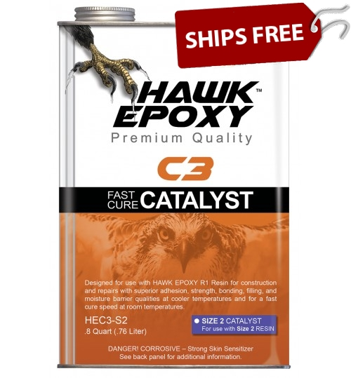 Hawk Epoxy Fast Cure Catalyst, C3-S2, .8 Quart