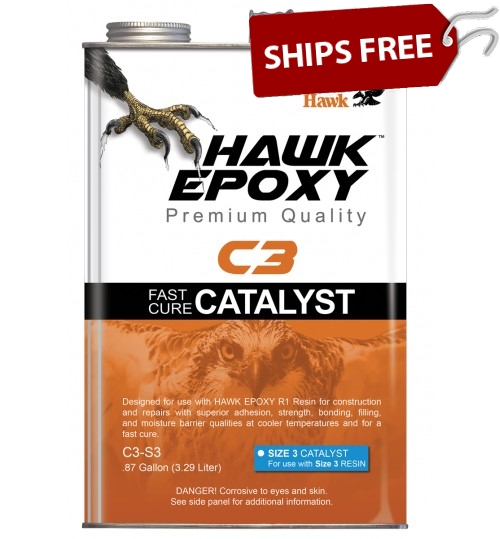 Hawk Epoxy Fast Cure Catalyst, C3-S3, Size 3, .87 Gallon