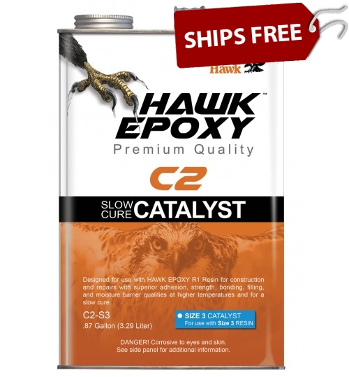 Hawk Epoxy Slow Cure Catalyst, C2-S3, .87 Gallon